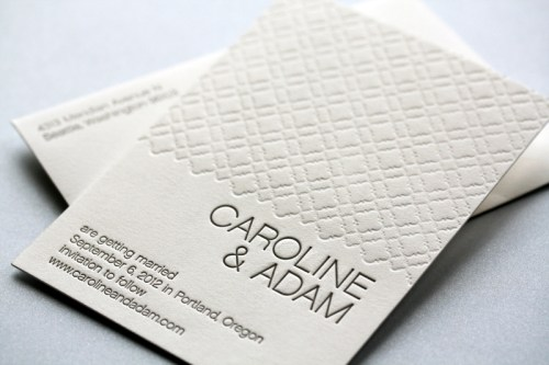 page stationery modern wedding invitation caroline save the date 500x333 Wedding Invitations   Page Stationery
