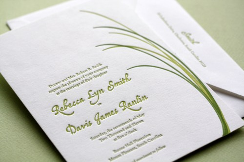 page stationery modern wedding invitation rebecca invite 500x333 Wedding Invitations   Page Stationery