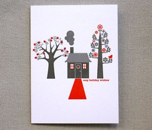Egg Press Holiday Cards Wishes 300x257 2010 Holiday Card Round Up, Part 1!