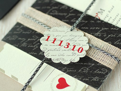 Love Letter Wedding Invitations Tag 500x375 Love Letter Inspired Wedding Invitations