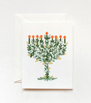 Rifle Paper Co Holiday Card Menorah 300x340 2010 Holiday Card Round Up, Part 1!