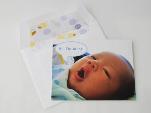 Baby Boy Birth Announcements 500x375 Blue Birth Announcements for Baby Bruce!