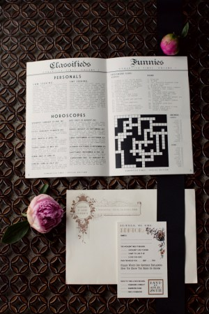 Newspaper Wedding Invitation Text2 300x450 Jos + Lindsays Newspaper Wedding Invitations