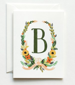 Rifle Paper Co Handpainted Monogram Note Cards2 300x340 Monogram Note Cards