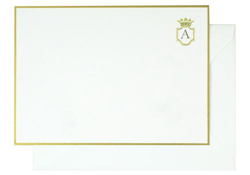 Sugar Paper Crown Monogram Note Cards Monogram Note Cards