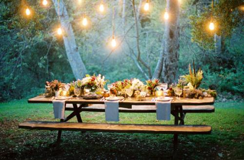 forest wedding reception table ideas 500x329 {today I love…}