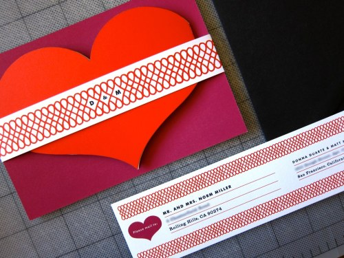 heart shaped wedding invitations 500x375 {today I love…}