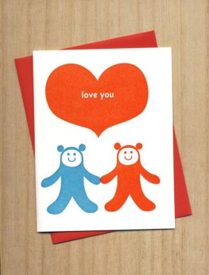 Fugu Fugu Love Valentines Day Card 300x397 Seasonal Stationery: Valentines Day Cards, Part 2