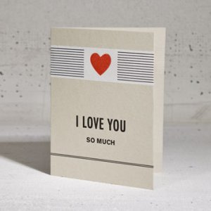 Hammerpress I Love You Valentines Day Card 300x300 Seasonal Stationery: Valentines Day Cards, Part 2