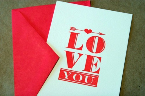 Igloo Letterpress Love You Valentines Day Card 500x333 Seasonal Stationery: Valentines Day Cards, Part 2