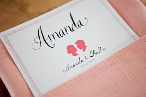 Mr Boddington Studio Calligraphy Silhouettes 500x332 Pink Silhouette Wedding Invitations
