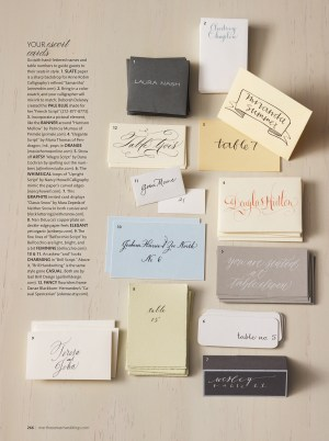 Martha Stewart Weddings Spring 2011 Calligraphy Story 300x402 Sneak Peek   Martha Stewart Weddings Spring 2011 Issue