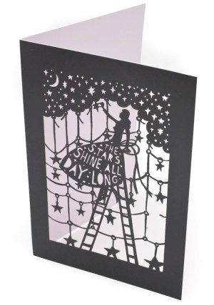 Rob Ryan Laser Cut Card Black 300x428 Rob Ryan Greeting Cards