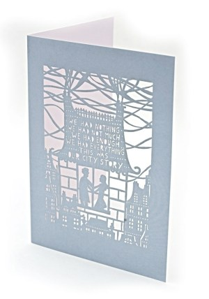 Rob Ryan Laser Cut Card Gray 300x428 Rob Ryan Greeting Cards
