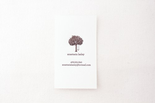 modern letterpress calling cards tree 500x333 Paper Lovely Calling Cards