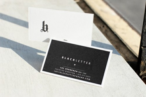 Black White Business Cards 500x333 Business Card Ideas and Inspiration #7