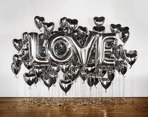 Love Mylar Balloon Installation {happy weekend!}