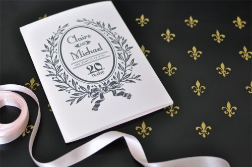 Parisian Wedding Invitation Inspiration 500x331 Parisian Wedding Invitation Inspiration
