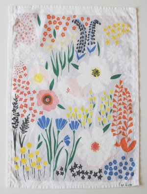 Floral Tea Towel Lisa Rupp 300x404 {today I love...}