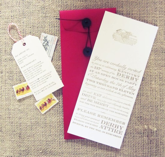 Kentucky Derby Party Invitations5 550x525 Allies Vintage Inspired Kentucky Derby Party Invitations