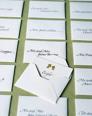 MS Silhouettes 300x375 Wedding Details: Escort Cards and Place Cards