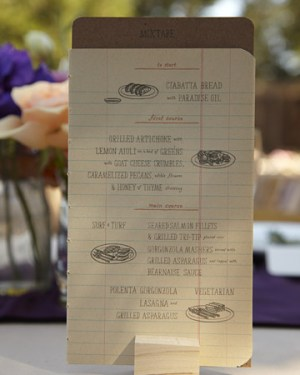 Notebook Sketch Wedding Menu 300x375 Wedding Details: Creative Menu Ideas