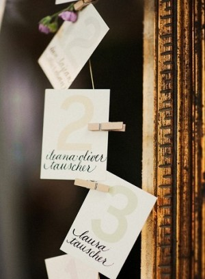 Numbered Escort Cards 300x408 Wedding Details: Escort Cards and Place Cards, Part 2