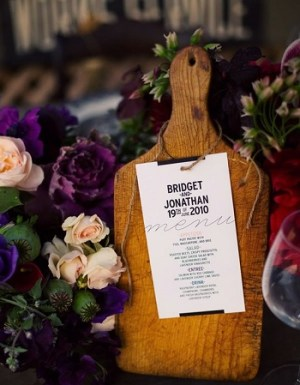 Rustic Wedding Menu 300x385 Wedding Details: Creative Menu Ideas