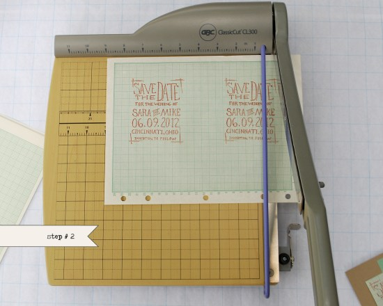 step22 550x440 DIY Tutorial: Geek Chic Graph Paper Save the Dates