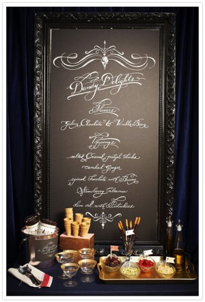 wedding chalkboard menu idea 300x441 Wedding Details: Creative Menu Ideas