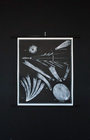 Comet Wall Chart1 300x467 Paper Artwork   Black and White Astronomy Prints