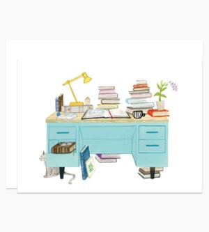 Dear Hancock Book Lover Desk Stationery 300x333 Modern Illustrated Stationery from Dear Hancock