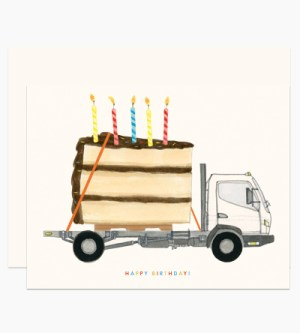 Dear Hancock Happy Birthday Truck 300x333 Modern Illustrated Stationery from Dear Hancock