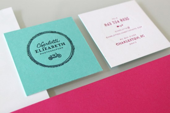 Hand Lettered Letterpress Business Card Stitch Design Co Business Card Ideas and Inspiration #10