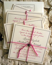 Custom Non-Traditional Vintage-Inspired Wedding Invitations by Bird and Banner