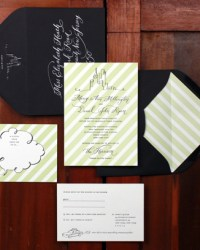 Custom Modern Wedding Invitations by Bird and Banner