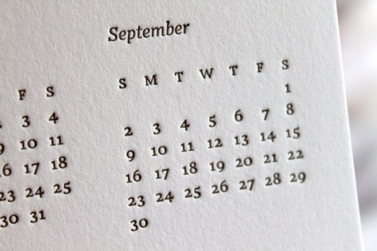 september 550x366 Summer Giveaway with Moontree Letterpress