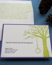 Custom Floral Letterpress Wedding Invitations by Gus & Ruby Letterpress