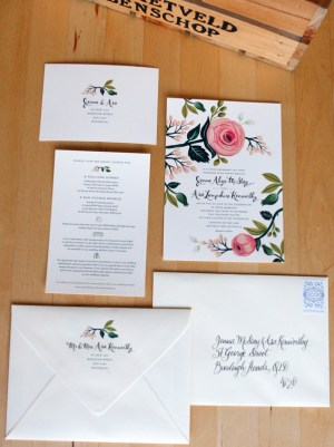 Floral Australia Wedding Invitation Rifle Paper Co5 300x401 Jenna + Asas Floral Wedding Invitations from Rifle Paper Co.