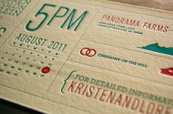 Modern Venn Diagram Overprinting Letterpress Wedding Invitations Rise and Shine Paper6 550x365 Kristen + Lorens Modern Diagram Letterpress Wedding Invitations