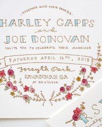 Custom Letterpress Wedding