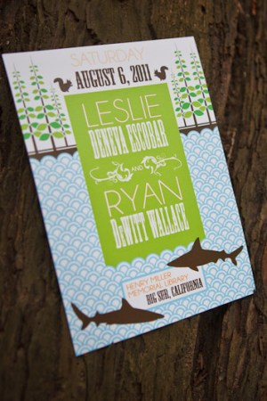 Big Sur Modern Woodland Wedding Invitations31 300x450 Leslie + Ryans Modern Woodland Big Sur Wedding Invitations