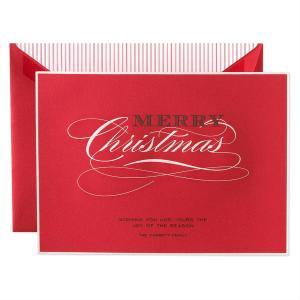 Crane Co Stationery Engraved Holiday Card Red Christmas 300x300 2011 Holiday Card Round Up, Part 2