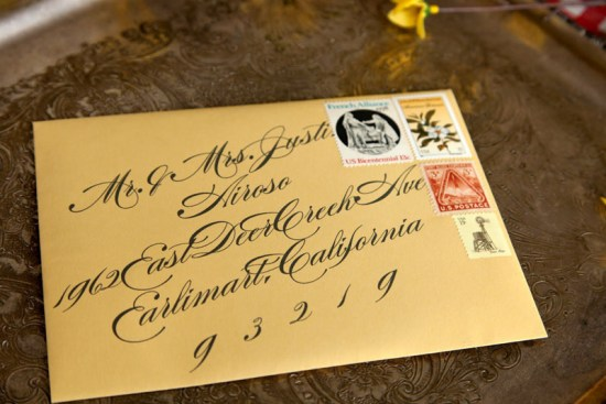 Eclectic Vintage Wedding Invitations Allie Ruth7 550x367 Jillian + Tims Eclectic Vintage Wedding Invitations