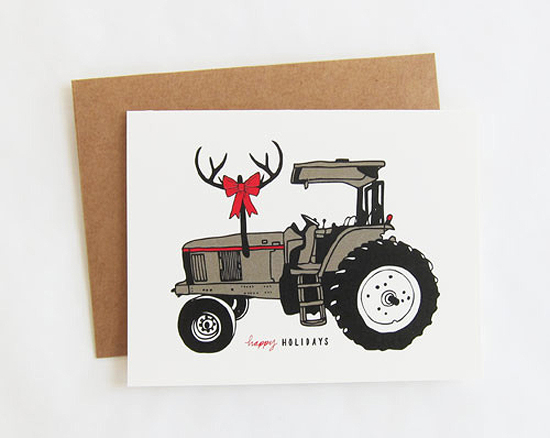 Scouts Honor Co Tractor Holiday Card 2011 Holiday Card Round Up, Part 12