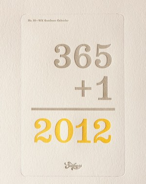 W K Studio Calendar 300x378 2012 Calendar Round Up, Part 10