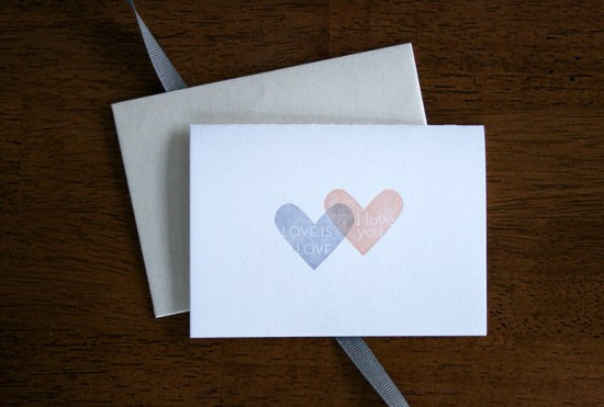 Colleen Ellse Valentine Hearts 550x371 Seasonal Stationery: Valentines Day Cards