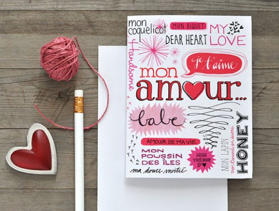 Eva Juilet Valentines Day Card 550x416 Seasonal Stationery: Valentines Day Cards, Part 5