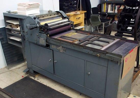 Letterpress Printing Process Baltimore Print Studios 01 Vandercook1 550x384 The Printing Process: Letterpress Printing