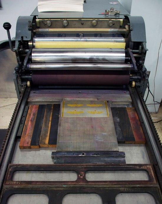 Letterpress Printing Process Baltimore Print Studios 03 lockedup 550x693 The Printing Process: Letterpress Printing
